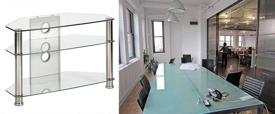 tampos de mesas em vidro